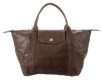 Longchamp Medium Le Pliage Leather Tote