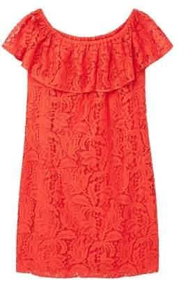 Violeta BY MANGO Lace off-shoulder dress
