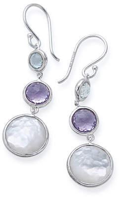Ippolita Small Silver Lollitini Three-Stone Earrings
