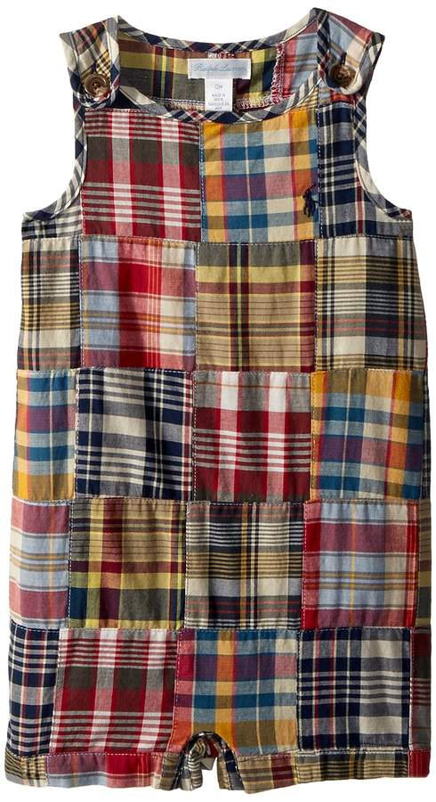 Ralph Lauren Baby Cotton Madras Shortall Boy's Overalls One Piece