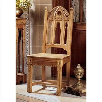Toscano Design Sudbury Hand-Carved Solid Pine Gothic Side Chair - Set of Two