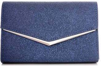 Dorothy Perkins Womens *Quiz Navy Glitter Clutch Bag