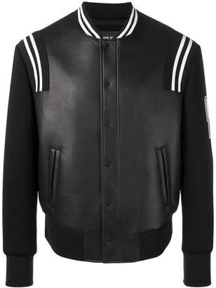 Neil Barrett logo sleeve varsity jacket