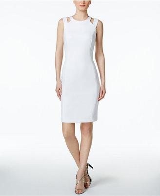 Calvin Klein Cutout Scuba Sheath Dress $134 thestylecure.com