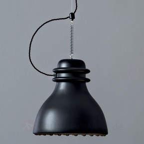 Pendelleuchte Battersea m. schwarzem Keramikschirm