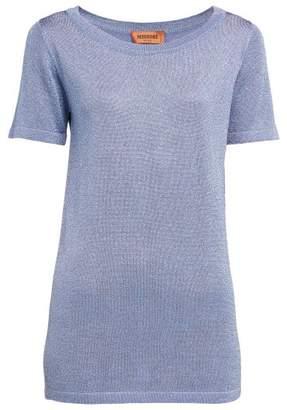 Missoni Lurex Knit Short Sleeved Top - Womens - Pink