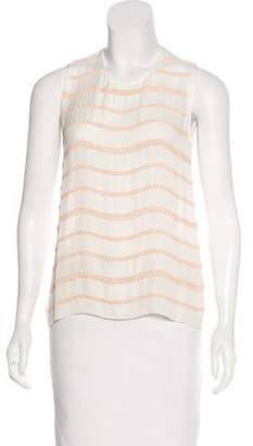 L'Agence Embellished Sleeveless Top