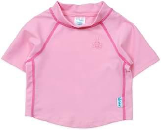 I Play I-Play Girls' Short Sleeve Rashguard Shirt