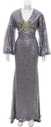 Mac Duggal Sequin Embellished Evening Dress
