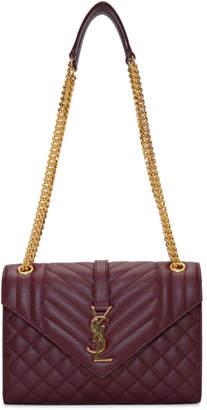 Saint Laurent Red Medium Envelope Chain Bag