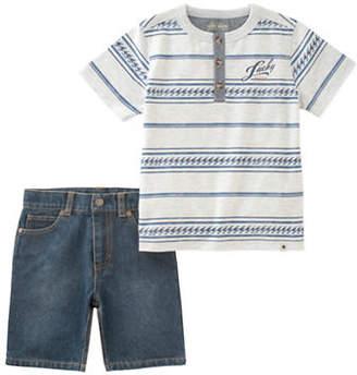 Lucky Brand Embroidered Shirt and Pants Set