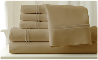 Colonial Home 1000Tc Easy Care 6 Piece Embroidered Sheet Set