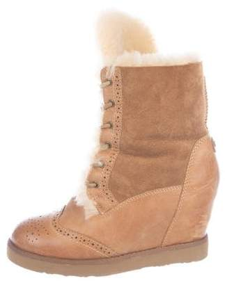 Australia Luxe Collective Sheepskin Leather Ankle Boots
