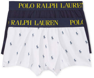 Polo Ralph Lauren Men's 2 Pack Ultra-Soft Cotton Comfort Blend Trunks