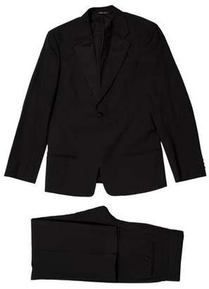 Armani Collezioni Satin-Trimmed Wool Tuxedo