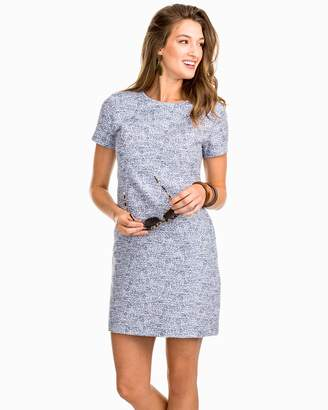 Southern Tide Paislee Short Sleeve Tweed Shift Dress