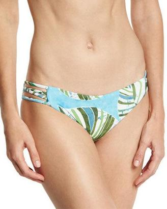 L Space Swimwear by Monica Wise Low Down Reversible Strappy Swim Bottom, Blue $79 thestylecure.com