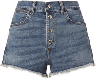 Rag & Bone Lou Button Fly Shorts $215 thestylecure.com