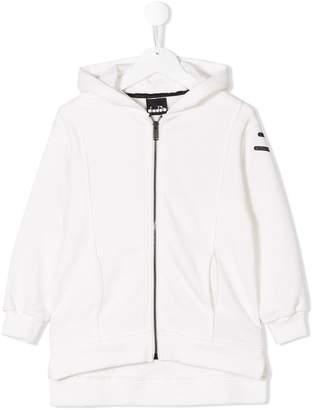 Diadora Junior logo printed hoodie