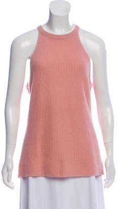 360 Cashmere Sleeveless Cashmere Top Pink Sleeveless Cashmere Top