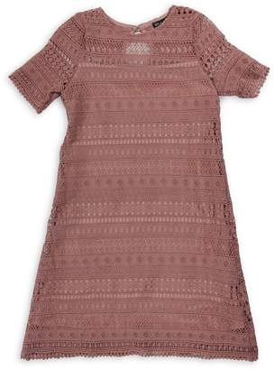 Ava & Yelly Girl's Lace Shift Dress