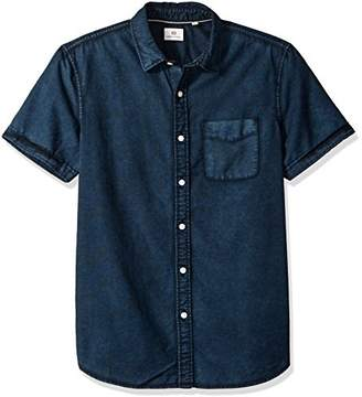 AG Adriano Goldschmied Men's Pearson Short Sleeve Button Down Oxford