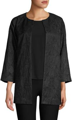 Eileen Fisher Three Quarter Sleeve Jacket
