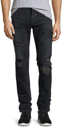 Hudson Men's Sartor Skinny Jeans w/ Camo Backing