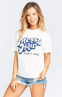 Show Me Your Mumu Travis Tee ~ Messy Hair Graphic