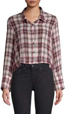 Splendid Sycamore Plaid Crop Shirt