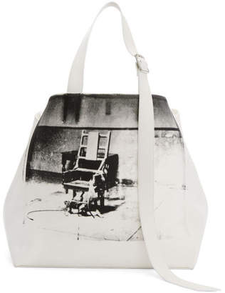 Calvin Klein White Oversized Electric Chair Tote