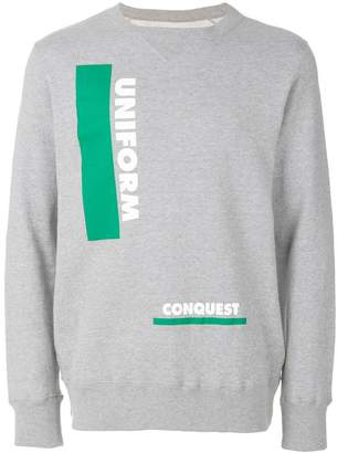 Sacai Uniform Conquest graphic sweater