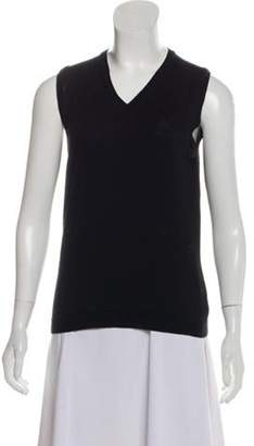 Burberry Merino Wool Sleeveless Top Black Merino Wool Sleeveless Top