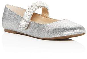 Vince Camuto Girls' Persia Embellished Glitter Mary Jane Flats - Toddler, Little Kid, Big Kid