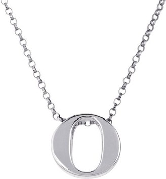 """Generic Initial """"o"""" sterling silver pendant"""