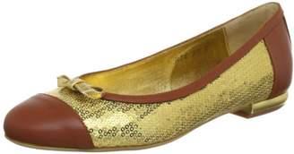 Beverly Feldman CHICA_1 Ballet Flats Womens Gold Size: 6.5 ( EU)