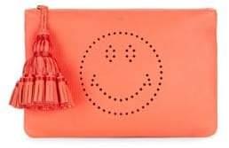 Anya Hindmarch Georgiana Smiley Leather Tassel Clutch
