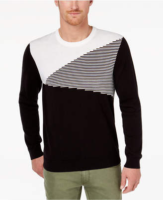INC International Concepts I.n.c. Men's Colorblocked Ottoman Stripe Sweater, Created for Macy's