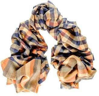 Black Goldsmith Multi-Tone Check Merino Wool and Silk Scarf