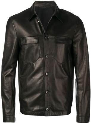 Salvatore Santoro button-up leather jacket