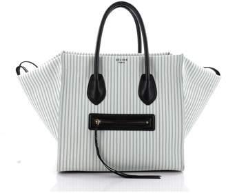 Celine Pre-owned: Phantom Handbag Striped Canvas And Leather Medium.