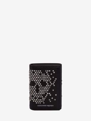 Alexander McQueen Studded Trifold Card Holder