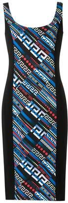Versace Greek Key print dress