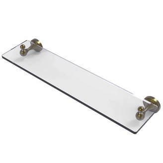 Sag Harbor ALLIED BRASS Allied Brass Collection 22 IN Glass Vanity Shelf With Beveled Edges