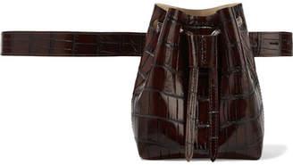 Nanushka Minee Croc-effect Leather Belt Bag