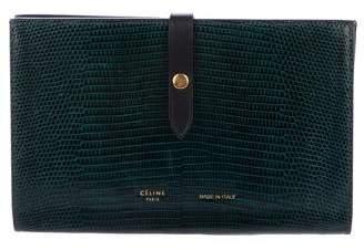 Celine 2017 Lizard Large Strap Multifunction Wallet