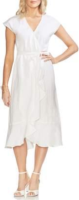 Vince Camuto Faux Wrap Linen Dress