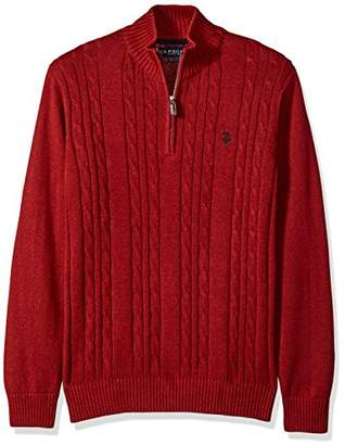 U.S. Polo Assn. Men's Cable Knit 1/4 Zip Sweater
