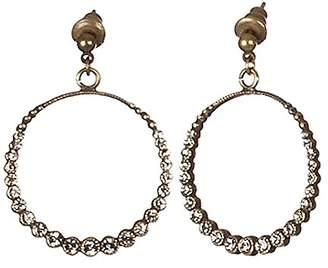 Sous le sable Pendant Swarovski Crystal Earrings Brass and Diamond Singapore Black