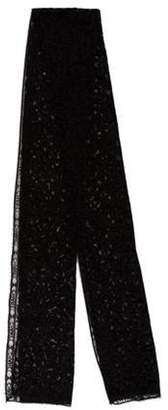 Chanel Lace Logo Scarf Black Lace Logo Scarf